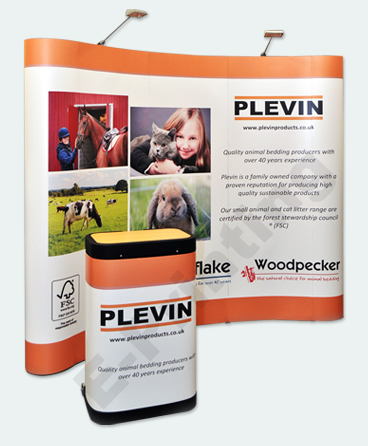 Curved Pop Up Exhibition Displays