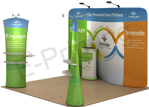 Tension Fabric Display - S type